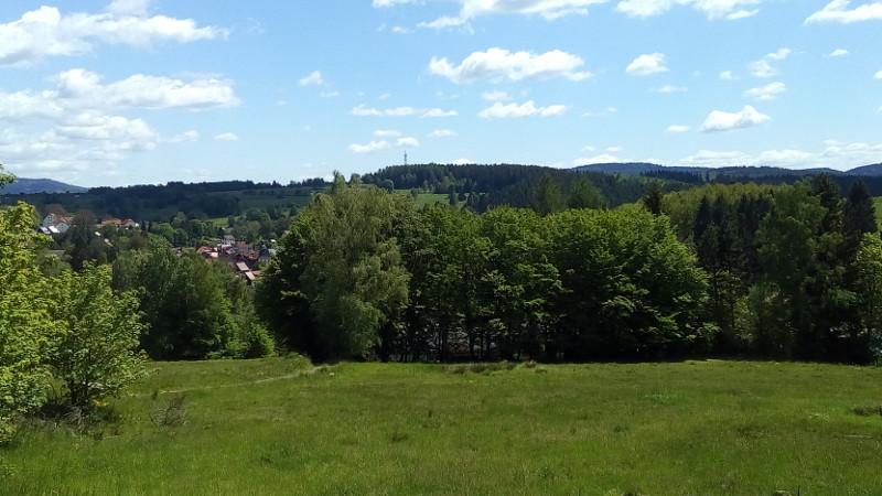 Blick von Terrasse der Bergbaude Albrechts